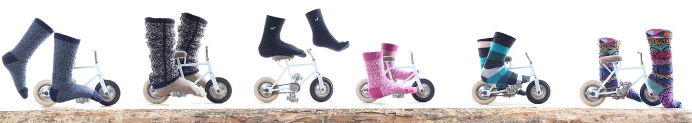 A wide range of luxury socks